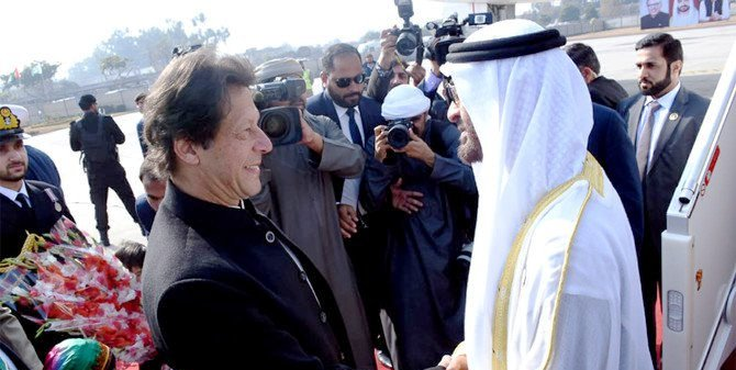 """Reportedly, Prime Minister (PM) Imran Khan welcomed the crown prince at the Nur Khan airbase, where an artillery unit honored him with a 21-gun salute, and the PM himself drove him to the Prime Minister House in Islamabad where he was given a guard of honour and a fly-past of JF-17 Thunders. Moreover, all relevant terms and conditions have been finalised before UAE inducts $3 billion cash into the economy of Pakistan and another $3.2 billion worth of oil supplies on deferred payments for one year, thereby enabling the country to recover from its economic crisis. Al Nahyan, who is also deputy chief of the UAE s armed forces, held a one-on-one meeting with PM Khan, followed by a high-level delegation talks. The Emirate prince also met members of the federal cabinet including Foreign Minister Shah Mahmood Qureshi, Finance Minister Asad Umar, Information Minister Fawad Chaudhry, Adviser to the Prime Minister on Commerce Abdul Razak Dawood, Power Minister Omar Ayub Khan, Planning and Development Minister Khusro Bakhtiar, Minister of State for Interior Shahryar Afridi, and Special Assistant to Prime Minister on Overseas Pakistanis Zulfi Bukhari. The two sides discussed bilateral relations, matters of mutual, regional and international interest. In December 2018, UAE officially announced that it would assist Pakistan to help it overcome international payment crisis and to avoid the deal with the International Monetary Fund (IMF), which contained strict terms and conditions. """"UAE has announced its intention to deposit US$3 billion (equivalent to AED11 billion) in the State Bank of Pakistan (SBP) to support the financial and monetary policy of the Islamic Republic of Pakistan,"""" the Abu Dhabi Fund for Development (ADFD) said in a statement published by WAM news agency. The Pakistani rupee had plunged almost five percent to a record low at the end of November, after what appeared to be the sixth devaluation by the central bank in the past year. A high-level delegation has been"""